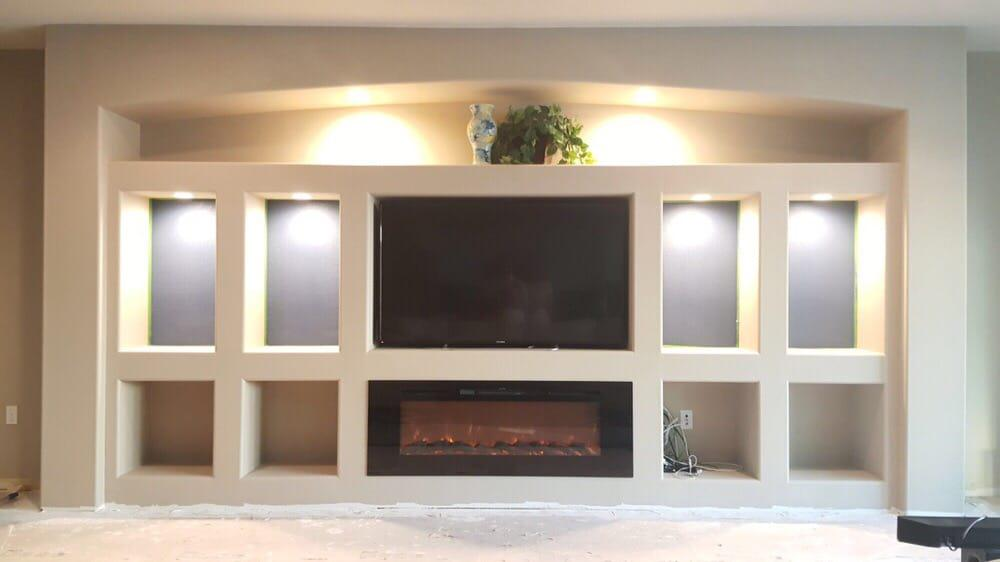 Drywall Entertainment Center